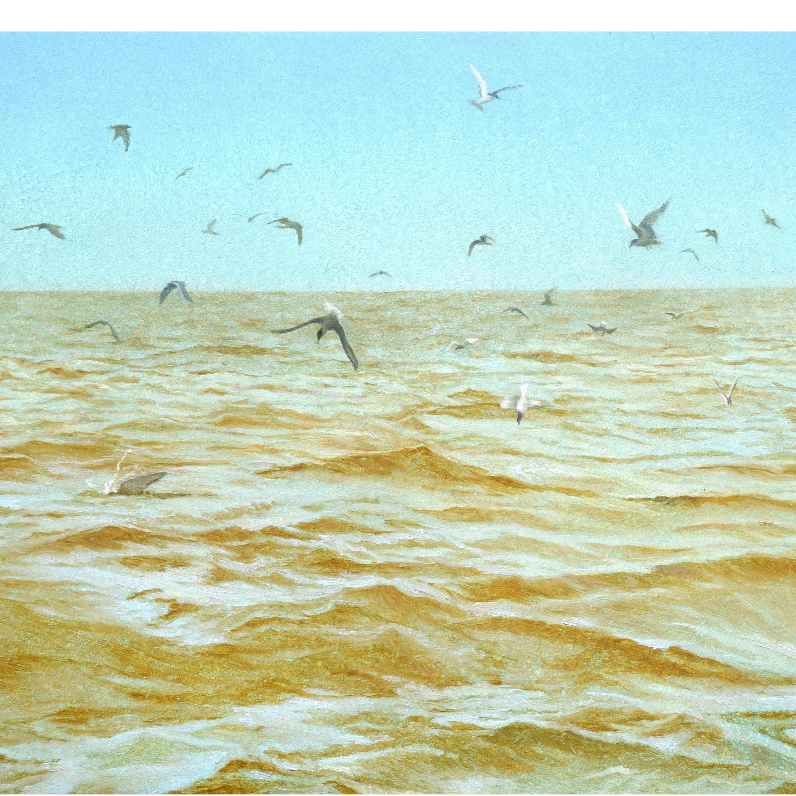 Baumgarten, Study for Seascape with Terns, 9 x 12 inches, oil on panel